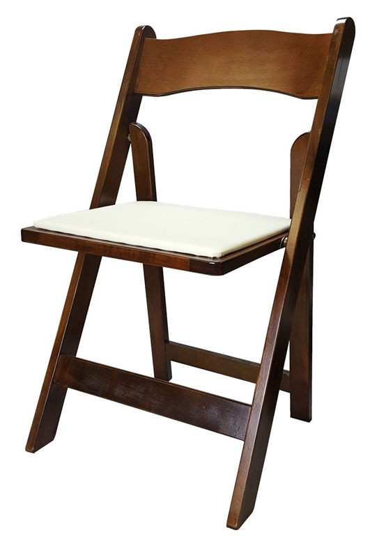 Folding Padded Chairs – Fruitwood (Dark Wood) – Special 10% Off